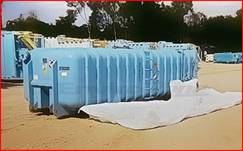 A single spouted hazardous waste bag typically used in a vacuum box for wet and dry waste streams.